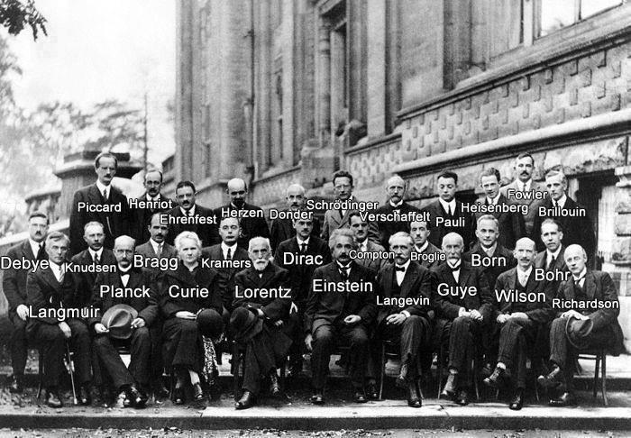 Gli scienziati agli inizi del XX secolo