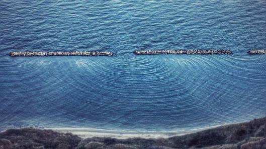 Diffrazione onda mare