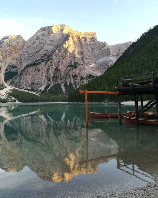 riflessione Braies lake