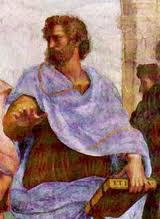 Aristotele (384-322  a.C.)<br /><br /> Particolare della Scuola di Atene di Raffaello (1509)