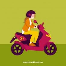 ragazza-scooter